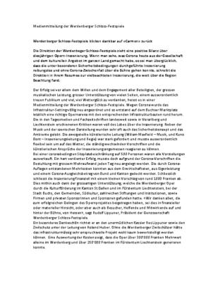 201220_Medienmitteilung der Werdenberger Schlossfestspiele